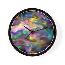 fascination fluid, multicolor2 Wall Clock