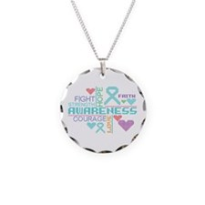 PTSD Slogans Necklace Circle Charm