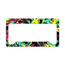 Retro psychedelic  License Plate Holder