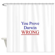 Twisted Imp Prove Darwin Wrong Shower Curtain