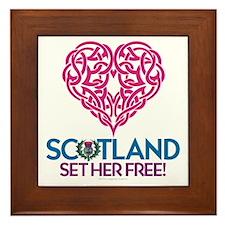 Love Scotland Framed Tile