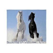 Beautiful Horses Throw Blanket