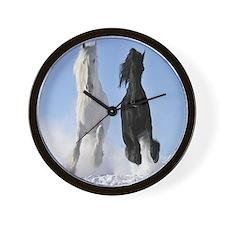 Beautiful Horses Wall Clock