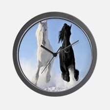 Beautiful Horses Wall Clock