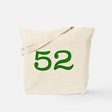 GREEN #52 Tote Bag