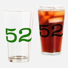GREEN #52 Drinking Glass