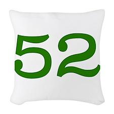 GREEN #52 Woven Throw Pillow