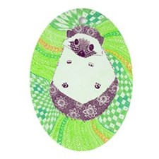 Psychedelic Hedgehog Ornament (Oval)