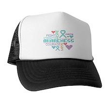 Myasthenia Gravis Slogans Trucker Hat