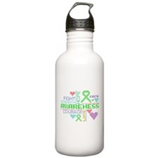 Mental Health Slogans Water Bottle
