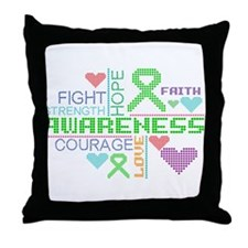 Mental Health Slogans Throw Pillow