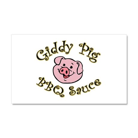 Giddy Pig Logo Car Magnet 20 x 12