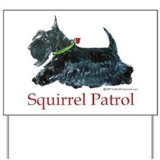Squirrel Patrol Yard Sign
