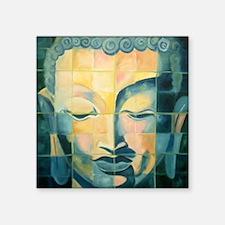 Tile Buddha Rectangle Sticker