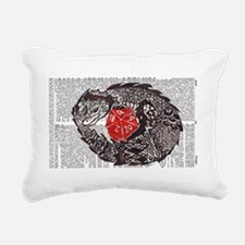 Here Be Dragons Rectangular Canvas Pillow