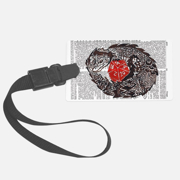 Here Be Dragons Luggage Tag