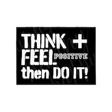 Positive Thinking Saying 5'x7'Area Rug