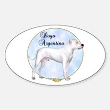 Dogo Portrait Oval Decal