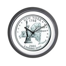 New York State Quarter Wall Clock