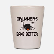 Drummers Bang Shot Glass