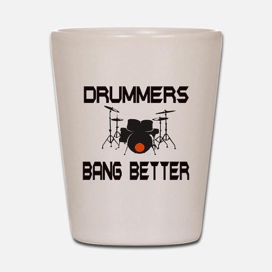 Drummers Bang Shot Glass