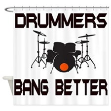 Drummers Bang Shower Curtain