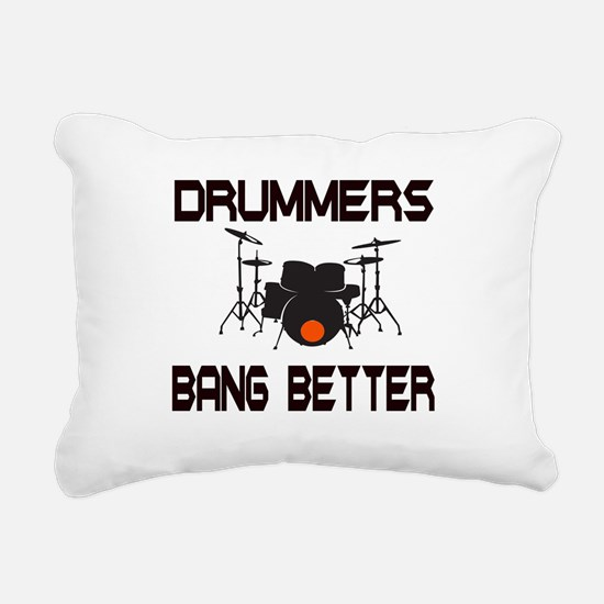 Drummers Bang Rectangular Canvas Pillow