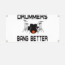 Drummers Bang Banner
