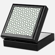 Ganja leaf geometric print Keepsake Box