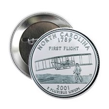 North Carolina State Quarter Button