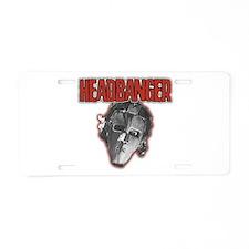 HeadBanger Aluminum License Plate