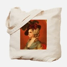 Colonial Lady In Red Chair Tote Bag