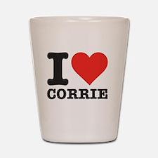 I love Corrie Shot Glass