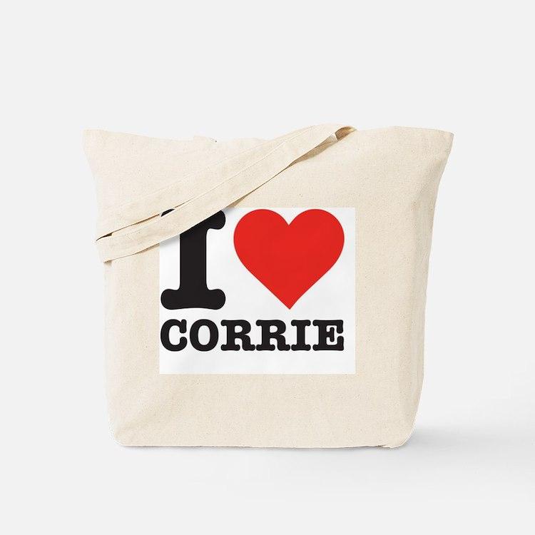 I love Corrie Tote Bag