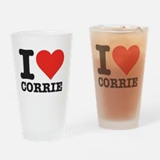 I love Corrie Drinking Glass