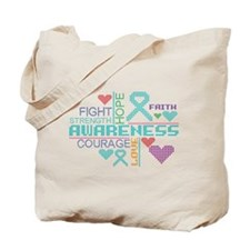 Interstitial Cystitis Slogans Tote Bag