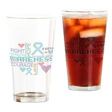 Interstitial Cystitis Slogans Drinking Glass