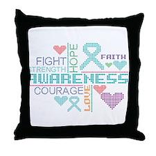 Interstitial Cystitis Slogans Throw Pillow