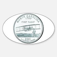 North Carolina State Quarter Oval Bumper Stickers