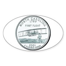 North Carolina State Quarter Oval Decal