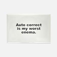 Auto Correct Is My Worst Enema Rectangle Magnet