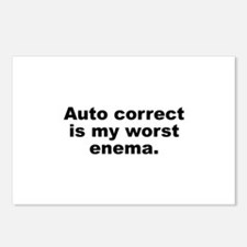 Auto Correct Is My Worst Enema Postcards (Package