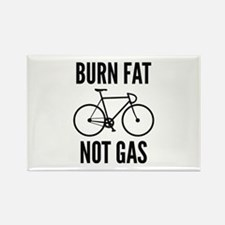 Burn Fat Not Gas Rectangle Magnet