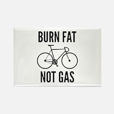 Burn Fat Not Gas Rectangle Magnet (100 pack)