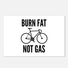 Burn Fat Not Gas Postcards (Package of 8)