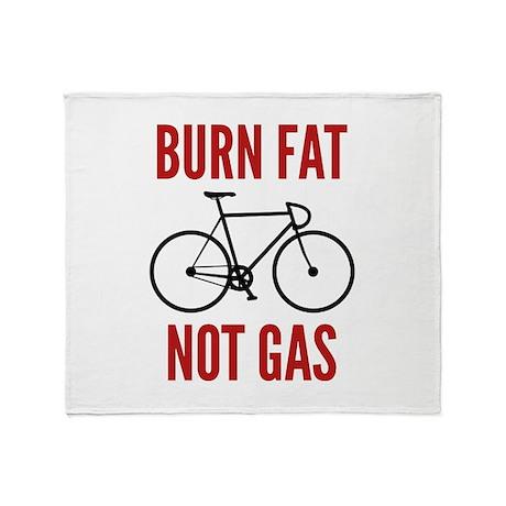 Burn Fat Not Gas Stadium Blanket