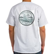 Rhode Island State Quarter Ash Grey T-Shirt