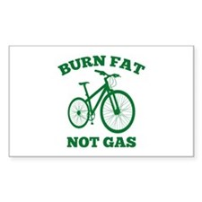 Burn Fat Not Gas Decal