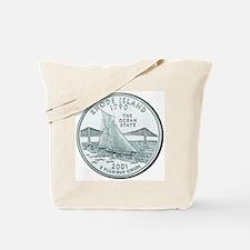 Rhode Island State Quarter Tote Bag
