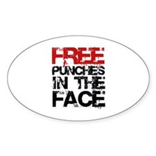 Free Punches In The Face Bumper Stickers